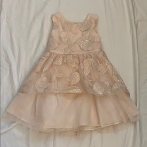 Girls' Rare Editions Pink Embroidered Formal Dress